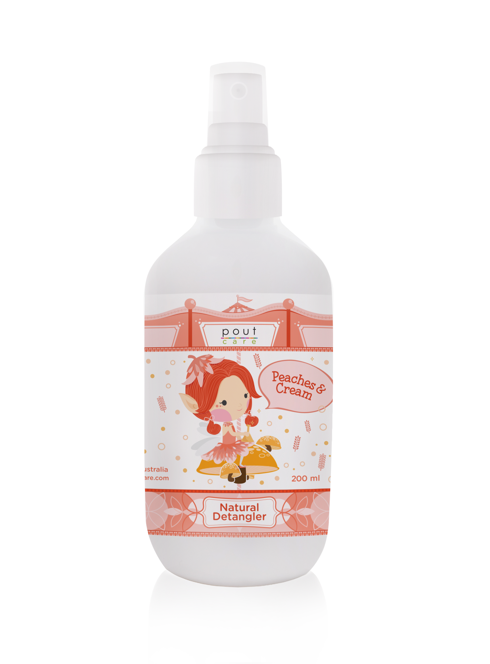 pout Care Peaches n Cream Natural Detangler 200ml